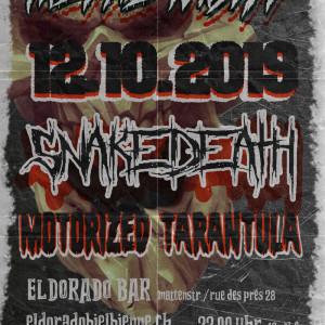 Metal Night: Motorized Tarantula, Snakedeath, 12.10.2019